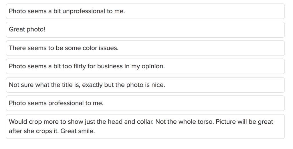 LinkedIn profile, profile picture check