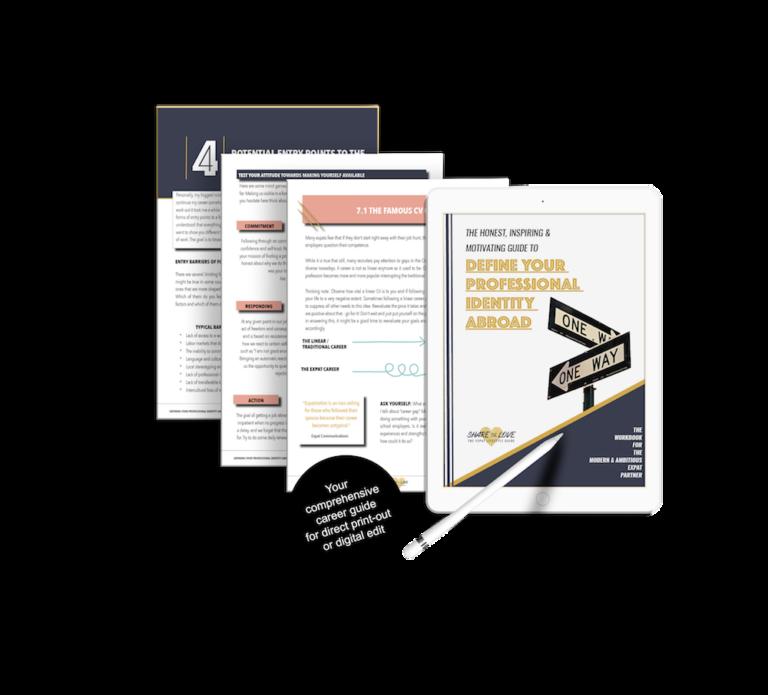 workbook, sharethelove, expat partner, career guide