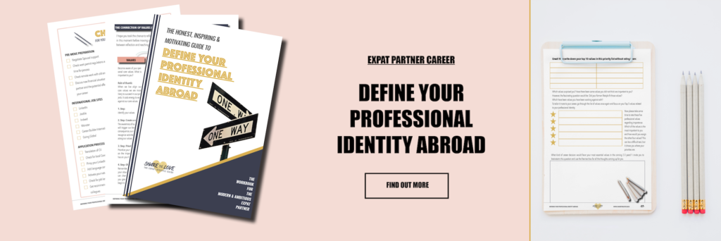 workbook, expat partner, career planning, sharethelove, expat