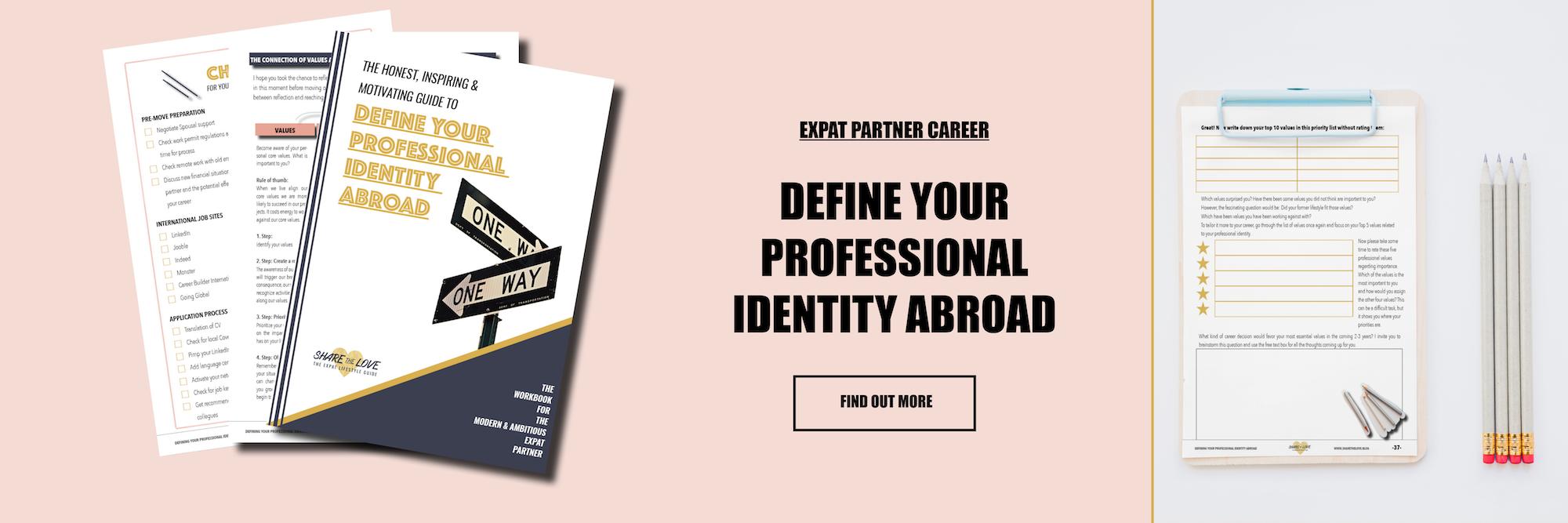 workbook, expat partner, career planning, sharethelove, expat