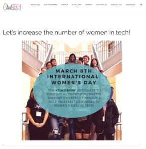 chicktech, women in tech